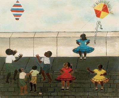 Figura 2: Heitor dos Prazeres  (1898-1966), crianças brincando, óleo sobre tela, 39x47cm (1964).
