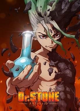 Resultado de imagem para ilustração da capa do anime dr stone